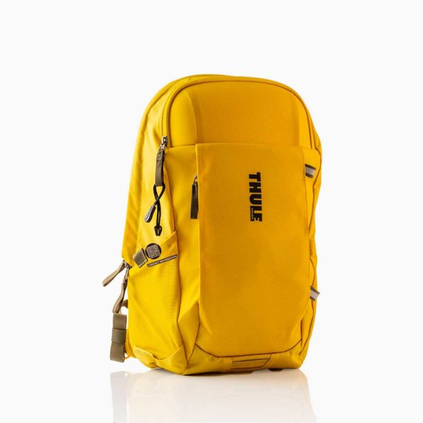 Transparant bagagelabel tag - Thule gele tas