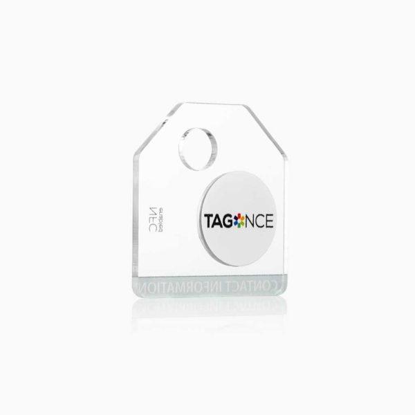 Transparant bagagelabel - Tag zijkant