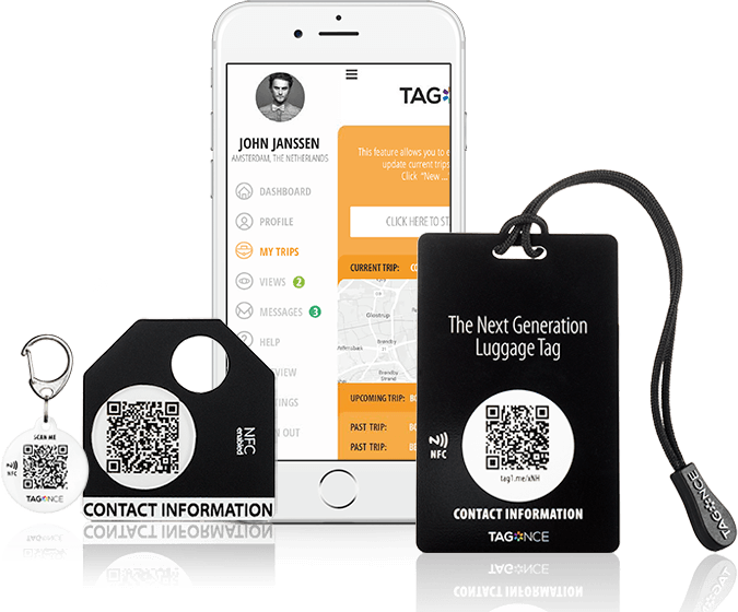 sleutelhanger tag app credit card