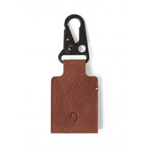 Leather Travelling Tag - Cinnamon Brown back