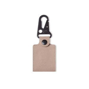 Leather Travelling Tag - Rose front
