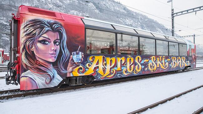 apres ski train