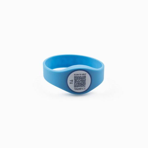 SOS-armband blauw