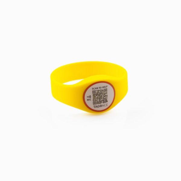 SOS-armband geel