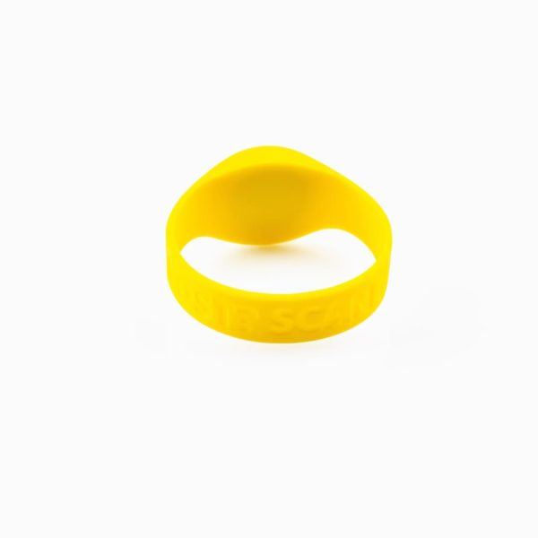 SOS-armband geel achterkant