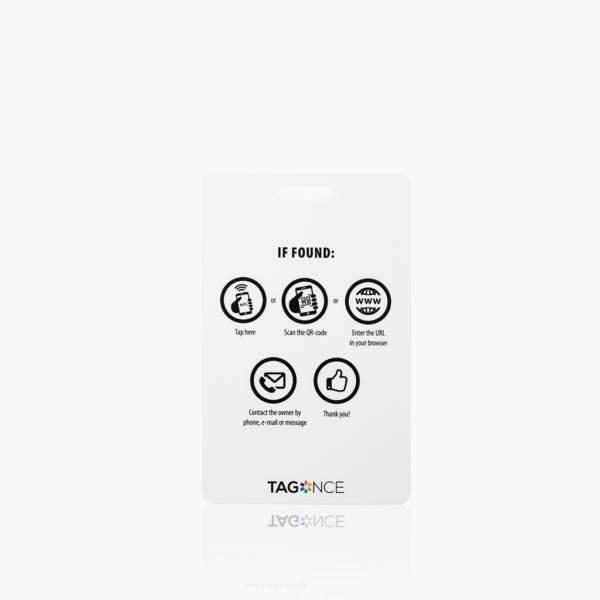Kleurrijk bagagelabel - Creditcard achterkant