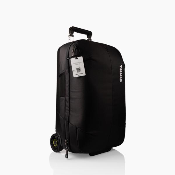 Wit bagagelabel - Creditcard Thule tas