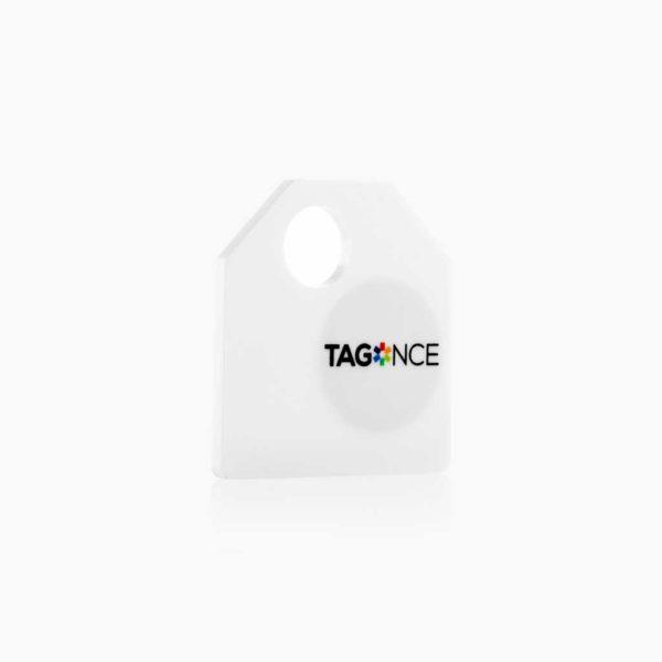 Wit bagagelabel - Tag zijkant