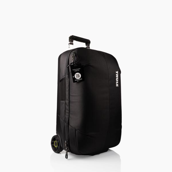 Zwart bagagelabel - Creditcard Thule tas