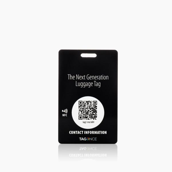 Zwart bagagelabel - Creditcard voorkant