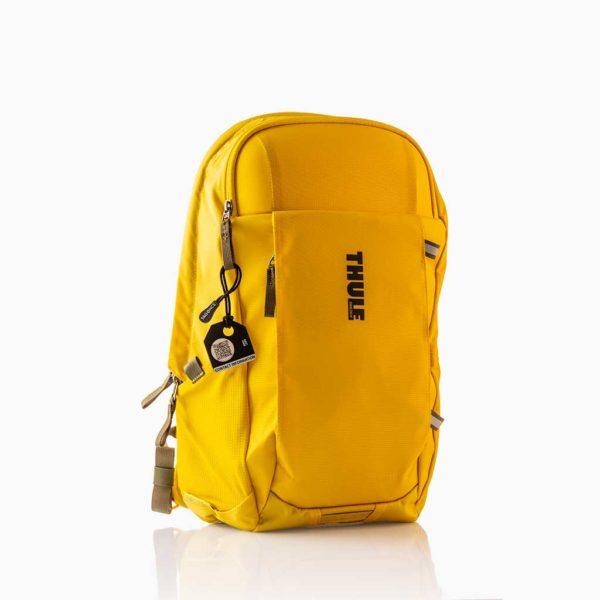 Zwart bagagelabel - Tag Thule gele tas