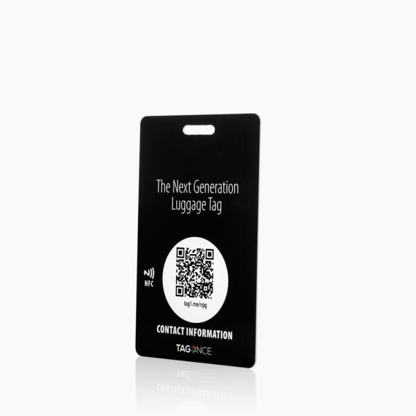 Zwart kofferlabel -Creditcard zijkant