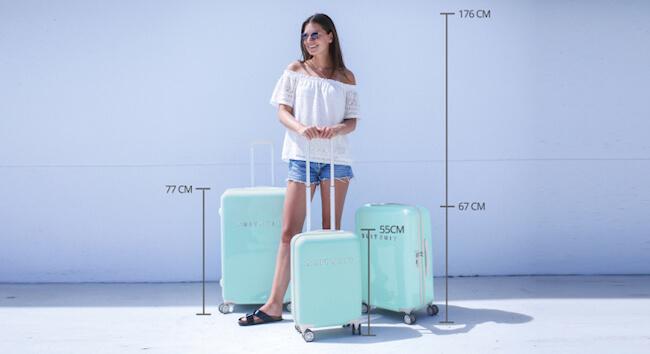 tip let op het formaat koffer
